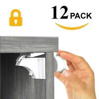 Invisible Magnetic Proof Cupboard Door Drawer Baby Child Pet Safety Lock Catch