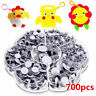 700Pcs/Box 7 Sizes DIY Round Self-Adhesive Wiggly Googly Eyes For Doll Toy New
