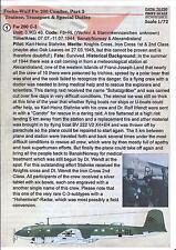 Print Scale Decals 1/72 FOCKE WULF Fw-200 CONDOR Bomber & Transport Part 2