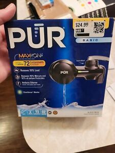 PUR MAXION Horizontl Faucet Water  1 Mineral Clear  Black
