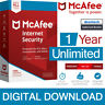 McAfee Internet Security 2019 Unlimited Devices/1Year Antivirus Genuine License