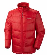 NWT COLUMBIA MEN'S XL OMNI HEAT GOLD 650 TURBODOWN JACKET RED WINTER DOWN COAT