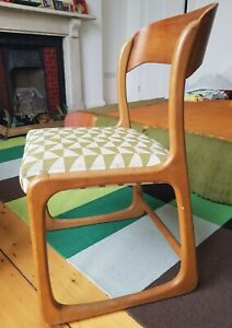 Vintage Beech dining chairs x 5 Danish design mid century Arne Jacobsen Print
