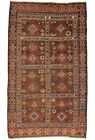 Vintage Afghan Balouch 6'x10' Brown Wool Tribal Hand-Knotted Oriental Rug
