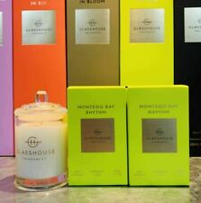 NEW Glasshouse Montego Bay 60g Mini Soy Candle DUO Coconut & lime Triple Scented