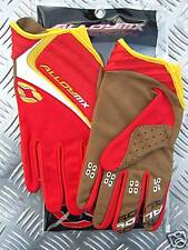 KIDS ALLOY MOTOCROSS GLOVES mx 06 CLUTCH RED YELLOW SIZE LARGE 7 enduro quad
