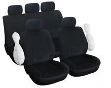 Housse pour siège de voiture luxe couleur Noir 9 pieces pour toutes voitures