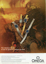 1969 Omega Milestone Watch Print Ad First Watch Worn On The Moon