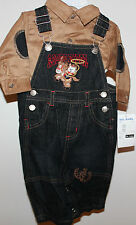 """B.T. Kids Overall Set with matching Boots  """"Brand New"""""""