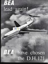 BEA BRITISH EUROPEAN 1957 LEADS AGAIN! BEA HAVE CHOSEN THE D.H.121 TRIDENT AD