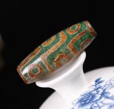 ANCIENT PURE FENG SHUI AGATE OLD TIBETAN DZI BEAD PRAYER PENDANT *9 EYE*