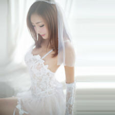 Sexy Lingerie Bridal Set Perspective Lace Gauze Bride Set Role Play Cosplay