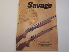 1981 Savage Arms Shotgun Gun Rifle Catalog LOTS More Listed