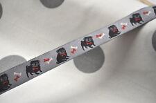 Webband HUNDE HUND RENAISSANCE USA 1 Meter 22mm selten DOGS HUNDEHALSBAND MOPS