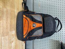 Klein 55421BP-14 Tradesman Pro 39 Pockets Tool Backpack - Black/Orange/Gray
