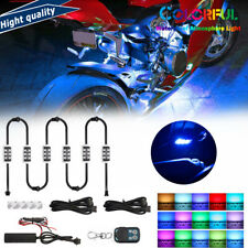 6x 36 Led Motorcycle Under Glow Light Kit Remote Control Multi Color Neon Strip