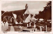 WALES - LLANYCIL, Church by Bala Lake - Real Photo used 1945
