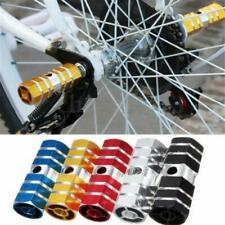 2X Bike Pedals Aluminum Alloy Axles BMX MTB Pedal Bicycle Stunt Foot Peg UK
