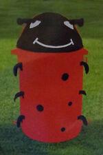 "Laundry Hamper Ladybug Pop-up + Toy Storage 31"" Tall x 15"" Wide"