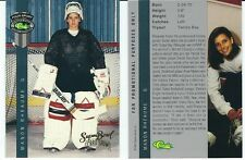 Manon Rheaume Classic Super Bowl Card Woman Goalie Promo Hockey Trading Card