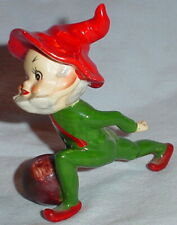 "Elf Pixie Gnome Leprechaun Bowling 9 Pins? Figurine/3.5""/Maybe Josef Original"