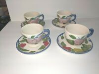 Set Of 4 Franciscan Orchard Glade Coffee Tea Cup & saucer Johnson Bros England