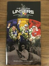 The Amazing Unsers: Exhibit Brochure (Indianapolis Motor Speedway Museum)