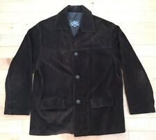 VERA PELLE Suede Leather Brown Coat/Jacket Size 56. Made In Italy
