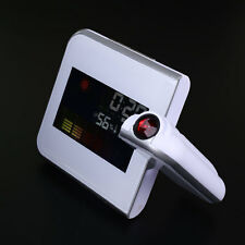 LCD Display Digital LED Projector Time Projection Alarm Clock Weather Station