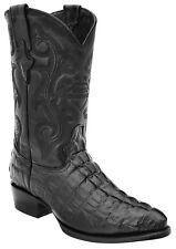 Men's White Diamonds Crocodile Tail Print Cowboy Western Boots J Toe Handmade