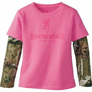 Browning Youth Girls Hazin Tee Ultra Pink
