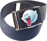Boo Super Mario Character Belt Buckle Bottle Opener Adjustable Web Belt