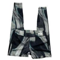 Fila Sport Sz XS Black Multi Color Yoga Running Tru-Dry Athletic Pants Women's