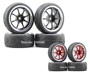 1/10 Onroad Rc Car Wheel Tires 3mm Offset For Tamiya tt01e tt02 Hpi Rs4 Sprint2