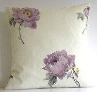 "Laura Ashley Peony Floral Amethyst 16"" Cushion Cover"