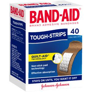 Band-Aid Tough-Strips Regular X 40