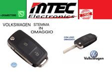 K41 VW VOLKSWAGEN GOLF V PASSAT POLO COVER GUSCIO CHIAVE TELECOMANDO 2 TASTI