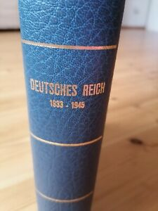 Vordruckalbum Deutsches Reich 1933 - 1945 mit Sammlung mit Dienstmarken Feldpost