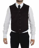 NWT $800 DOLCE & GABBANA Brown Cashmere Dress Vest Blazer Jacket IT48 / US38 / M