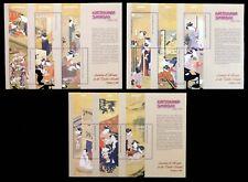 GHANA 2002 giapponesi dipinti M/Fogli MS3316/9 su 2 pagine U/M NC374