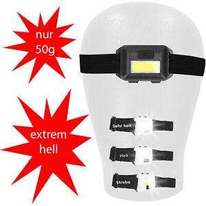 mini LED Stirnlampe Kopflampe Joggen Fahrrad Laufen Sport Kopf Stirn Lampe 3Modi