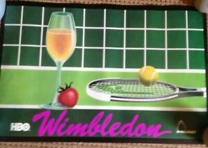 Rare Wimbledon Poster- HBO and Head promo from the '90's New, never hung