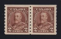 Canada Sc #229 (1935) 2c brown KGV Pictorial Coil Pair Mint VF NH