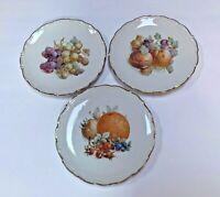 1950s Vtg Schumann Arzberg Bavaria Germany Dinner/Salad/Dessert Plates w/ Fruits