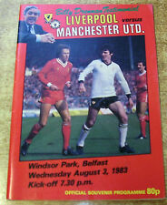 Liverpool Home Teams Testimonial Football Programmes