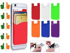 Phone Ultra Slim Stick On Wallet Credit ID Card Holder Silicone Card Money