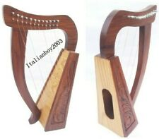 12 STRING CELTIC Rosewood  HARP With Free Carry Bag  Extra  String & tuning key