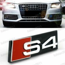 NEW FOR BLACK AUDI S4 GRILL BADGE 3D SLINE Front Racing Grill Grille Emblem