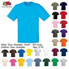 Mens Cotton Plain T-Shirt Size S M L XL XXL 3XL 4XL 5XL Fruit of the Loom