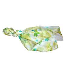 100% silk green & blue scarf 180 x 50 cm